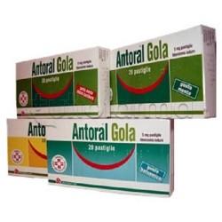 Antoral Gola 20 Pastiglie 5 mg Miele E Limone per Mal di Gola
