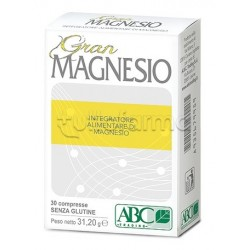 Gran Magnesio Integratore per il Benessere dell'Organismo 30 Compresse