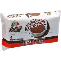 Inglese Tortina Brownie Senza Glutine 4 Monoporzioni
