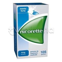 Nicorette 105 Gomme Masticabili 4 Mg Nicotina Menta per Disassuefazione da Sigarette