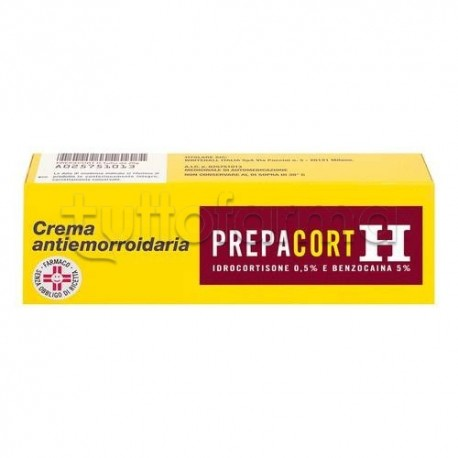 PrepacortH Crema 20 gr 0,5 gr +5 gr/100 gr per Emorroidi