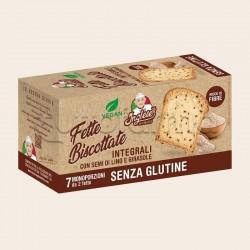 Inglese Fette Biscottate Integrali con Semi di Lino e Girasole Senza Glutine 7 Monoporzioni