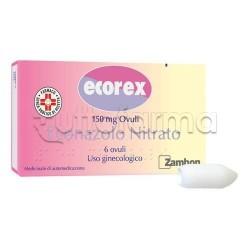 Ecorex 6 Ovuli Vaginali per Micosi e Candida 150 mg