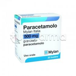 Paracetamolo Mylan Italia Febbre e Mal di Testa 20 Bustine da 500mg