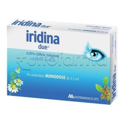 Iridina Due Collirio Monodose 10 Flaconcini 0,5 ml 0,05 % per Occhi Irritati ed Arrossati