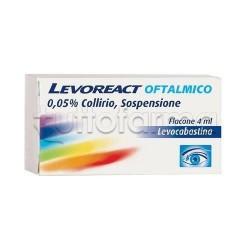 Levoreact Collirio Oftalmico 4 ml 0,5 mg per Occhi Allergici