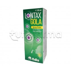 Lontax Gola Spray Orale per Le Infezioni Virali del Tratto Respiratorio 20ml