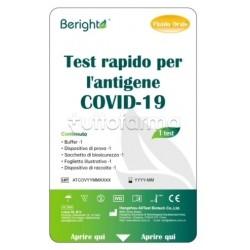 Beright Tampone Rapido Salivare ad Uso Domestico per Covid-19 1 Pezzo
