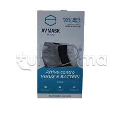 Mascherina Chirurgica Riutilizzabile a Triplo Strato Av Mask Pro con Grafene Antibatterico - Confezione da 5 Pezzi
