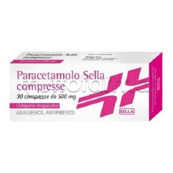 Paracetamolo Sella 30 Compresse 500 mg Febbre e Dolore (Equivalente Tachipirina)