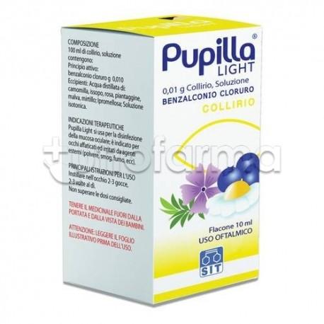 Pupilla Light Collirio 10 ml 0,01% per Occhi Arrossati ed Irritati