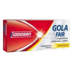 Iodosan Golafair 20 Pastiglie 1,5 mg Miele e Limone per Mal di Gola