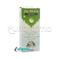 Erbenobili Oligoceleste Zinco/Nichel/Cobalto Integratore per Sistema Nervoso 50ml