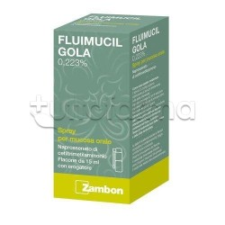 Fluimucil Gola Spray per Mal di Gola 15 ml
