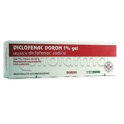 Diclofenac Dorom Gel Antinfiammatorio ed Antidolorifico 50 grammi 1%