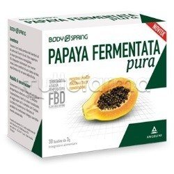 Body Spring Papaya Fermentata Pura in Polvere Integratore Antiossidante 30 Bustine