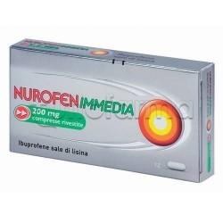 Nurofenimmedia 12 Compresse Rivestite 200 mg Antinfiammatorio ad Azione Rapida