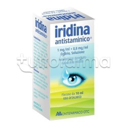 Iridina Antistaminico Collirio 10 mg + 8 mg per Occhi Irritati ed Allergie
