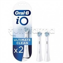 Oral-B Testine di Ricambio IO Ultimate Clean per Spazzolino Elettrico IO Bianco 2 Pezzi