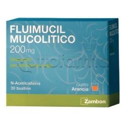 Fluimucil Mucolitico Soluzione Orale 30 Bustine 200 mg per Tosse e Catarro