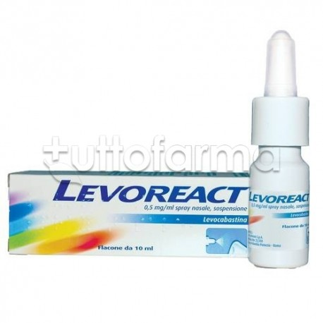 Levoreact Spray Nasale 10 ml 0,5 mg per Riniti Allergiche