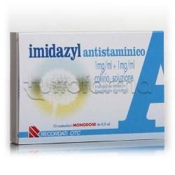 Imidazyl Antistaminico Collirio Monodose 10 Flaconcini 0,5 ml per Occhi Irritati ed Allergie