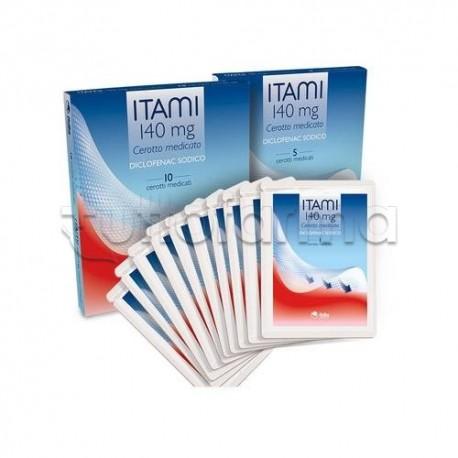 Itami 10 Cerotti Medicati Antinfiammatori ed Antidolorifici 140 mg