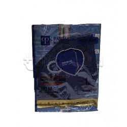 Mascherina Respiratoria Filtrante FFP2 Parmask Blu Navy Certificata CE 1 Pezzo- 80 Centesimi a Mascherina