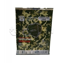Mascherina Respiratoria Filtrante FFP2 Parmask Militare Verde Certificata CE 1 Pezzo- 80 Centesimi a Mascherina
