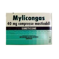 Mylicongas 50 Compresse Masticabili 40 mg per Gonfiore e Meteorismo