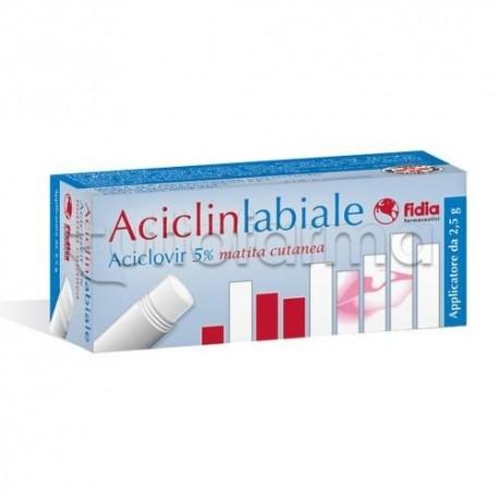Aciclinlabiale Matita Cutanea 2,5 grammi 5% per Herpes Labiale