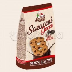 Inglese Biscotti Gocce Saraceni con Cioccolato Senza Glutine
