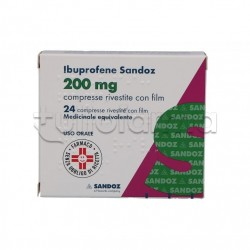 Ibuprofene Sandoz 200mg 24 Compresse Antidolorifico