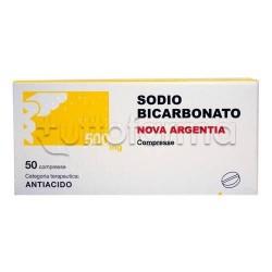 Sodio Bicarbonato Nova Argentia 50 Compresse 500 mg per Acidità di Stomaco