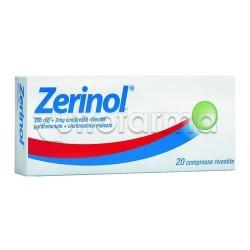 Zerinol 20 Compresse Rivestite 300 mg + 2 mg per Raffreddore e Influenza