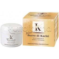 Erboristeria Magentina Karitè Puro Burro Idratante per Viso e Corpo 200ml