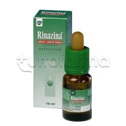 Rinazina Adulti Gocce Nasali Decongestionanti 10 ml 10 mg 0,1% per Liberare Naso Chiuso
