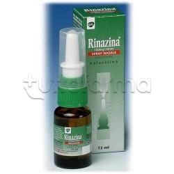 Rinazina Spray Nasale Decongestionante 15 ml 0,1% per Liberare Naso Chiuso