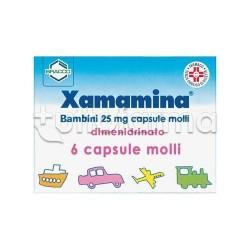 Xamamina Bambini Capsule 25 mg per Non Patire la Macchina la Nave e l'Aereo