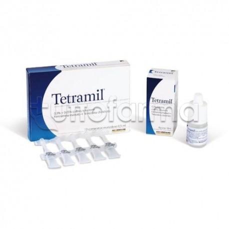 Tetramil Collirio Flacone 10 ml 0,3 + 0,05% per Occhi Arrossati Infiammati e Congiuntiviti Allergiche