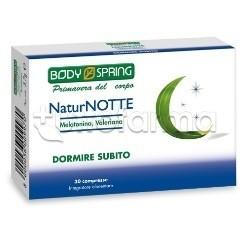 Body Spring NaturNotte Integratore Sonno 30 Compresse