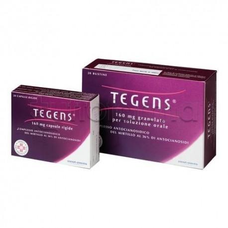 Tegens 20 Capsule 160 mg per Circolazione e Gambe Pesanti