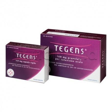 Tegens Granulato 20 Bustine 160 mg per Circolazione e Gambe Pesanti