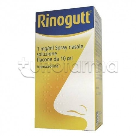 Rinogutt Spray Nasale 11,8 mg 10 ml Decongestionante per Liberare Naso Chiuso