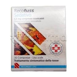 Recotuss Sedativo 30 Compresse Masticabili 6,5 mg Sedativo della Tosse