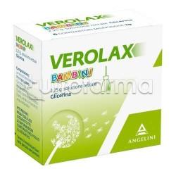 Verolax Bambini Microclismi 6 Clismi 2,25 gr Microclismi Lassativi per Stitichezza