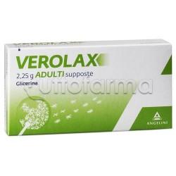 Verolax Adulti 18 Supposte 2,25 gr Lassativi per Stitichezza