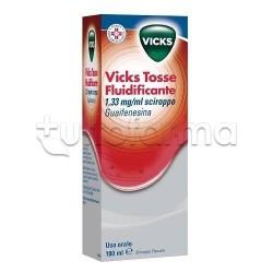 Vicks Tosse Fluidificante Sciroppo 180 ml per Tosse e Catarro