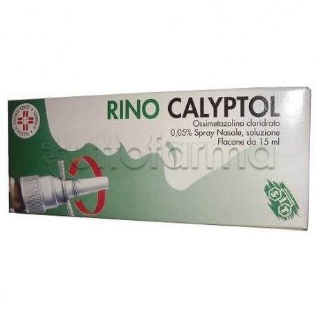 Rinocalyptol Spray Nasale Decongestionante Flacone 15 ml per Liberare Naso Chiuso