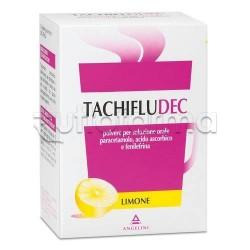 Tachifludec 10 Bustine Limone per Raffreddore e Influenza Libera Naso e Riduce Febbre e Dolore